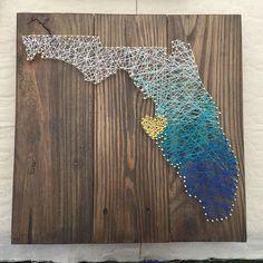 Loving this ombré Florida string art de amazing_grace_gallery