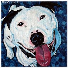 custom #petportrait miniature box canvas original art by NicseARTh, £65.00 #dogs