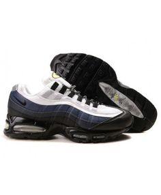 release date 2d484 d51ae Nike Air Max 95 Black Deep Blue Grey White Trainers Air Max 95 White, Air