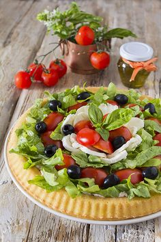 Antipasto Pasta Salads, Appetizer Salads, Appetizers, Quiche, Party Finger Foods, Savoury Cake, Food Preparation, Italian Recipes, Mozzarella