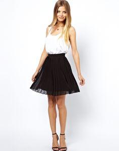 ASOS mini skirt in black pleats