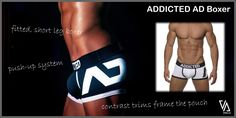 ADDICTED AD DISCO BOXER - internal push-up system lifts you upwards and outwards to boost the front profile