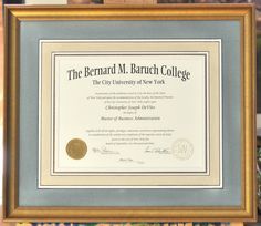 unique and elegant way to frame precious diploma is none other than hand painted french mats