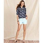 Tommy Hilfiger Printed Shirt & Denim Shorts Tommy Hilfiger, Tuxedo Cake, Women Brands, Printed Shirts, Bermuda Shorts, Denim Shorts, Glamour, My Style