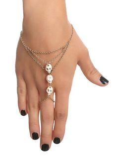 LOVEsick Ivory Skull Ring Bracelet | Hot Topic