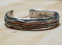 FIRE BRACELET  (Smelting sheet silver with copper inside) by marcomagro on Etsy,