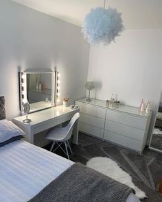 It's really a dressing table – with space for make-up and jewellery inside. Bedroom Decor For Teen Girls, Small Room Bedroom, Room Decor Bedroom, Bedroom Inspo, Bedroom Ideas, Pink Dressing Tables, Makeup Dressing Table, Small Bedroom Inspiration, Malm