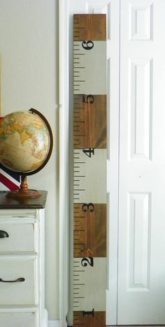 Ruler Growth Chart- stripes. on Etsy, $60.00