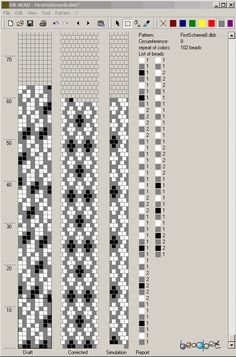 scheme pattern crochet beads - Szukaj w Google