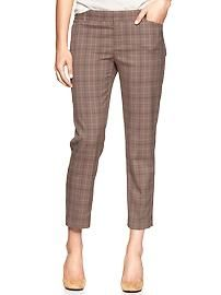 Slim cropped plaid pants - just enough visual without overpowering