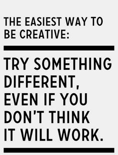 #Creativity | The easiest way to be #creative