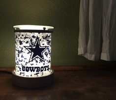 Scentsy Charmer warmer with Dallas cowboys decal. Dallas Cowboys Room, Dallas Cowboys Gifts, Dallas Cowboys Quotes, Dallas Cowboys Outfits, Dallas Cowboys Women, Cowboys 4, How Bout Them Cowboys, Scentsy, Man Cave