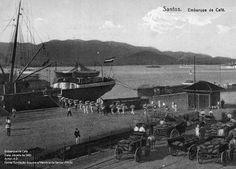 Embarque do Café Porto Santos - Década 1900 Arquivo: FAMS Autor: A.D