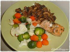 Ørret, grønnsaker og soppstuing. (~Eldeen~)