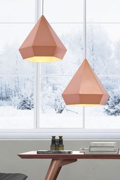 diamond facet lamps in pastel / scandinavian colors #BedsideLamp #OrigamiLamp