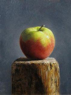 Apple Pedestal - Original Fine Art for Sale - © Michael Naples