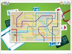 """""""Ferrocarriles de colores"""" es un sencillo y bonito juego, de duckieduck.com, en el que hay que accionar los interruptores de las vías de ferrocarril para que el tren pase y siga las líneas del mismo color."""