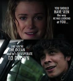 The way they look each other... #bellarke #the100 #4x06 #spoiler
