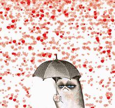 Divertidas imágenes animadas anti San Valentín.