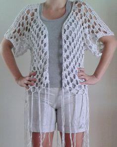 Blusa em crochê tamanho M <br>Material: barbante