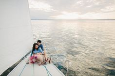 Sailboat engagement shoot | Photo by Ryan Flynn Photography | Read more - http://www.100layercake.com/blog/?p=79035