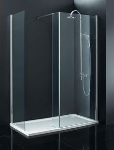 Indi 1700 x 760 8mm Walk in Shower Enclosure inc Tray and Waste - Aquabliss
