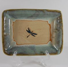 Love the glaze!!! Pottery Dragonfly Soap Dish  Footed  Beach by CenterHillClayWorks, $22.00