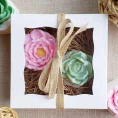Our rose flower pot and succulent soap box is a charming gift for so many special occasions for her. This soap gift set is completely handmade from glycerin soap and comes gift boxed. #succulents #roses #flower #handmadesoap #giftideas