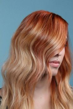 Golden rose blonde Eclipting hair color by Aveda Artist Jimmy Girgenti.  Color formula in comments.