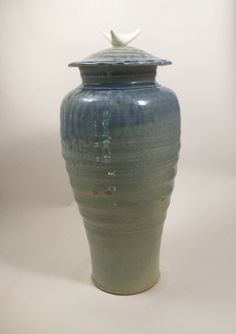 Tall Bone Jar, stoneware and porcelain, wood/soda fired, handmade by NC potter, David Voorhees Pottery