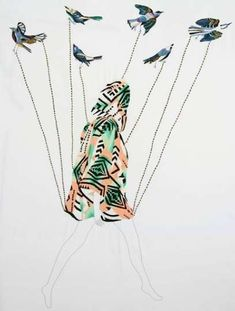 That's embroidery... not painted, all handmade by Jazmin Berakha #inspiration