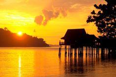 Golden yellow sunsets at Pangkor Laut.