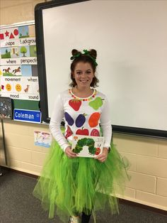 DIY very hungry caterpillar costume for teachers