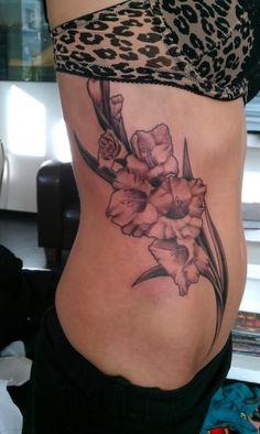 Gladiolus Flower Tattoo Drawings                              …
