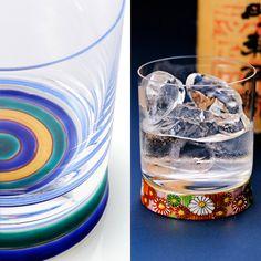 九谷和グラスのロックグラス