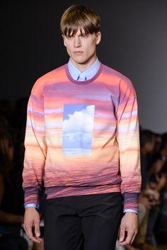 Tendances hommes - Le imprimés de l'été 2014 - Le défilé Calvin Klein printemps-été 2014