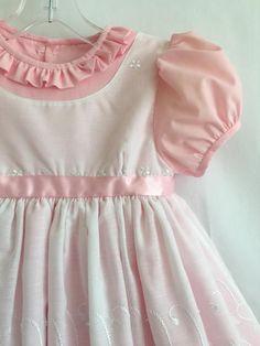 Cute Little Girl Dresses, Baby Girl Dresses, Vintage Baby Dresses, Baby Girls, Kids Dress Wear, Baby Girl Dress Patterns, White Eyelet Dress, Frilly Dresses, Unique Dresses
