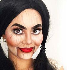 Creepy Doll Halloween Makeup Look for Women