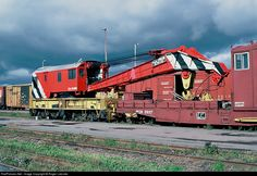 RailPictures.Net Photo: CN 50380 Canadian National Railway Bucyrus-Erie 250 Tons Crane at Moncton, New Brunswick, Canada by Roger Lalonde