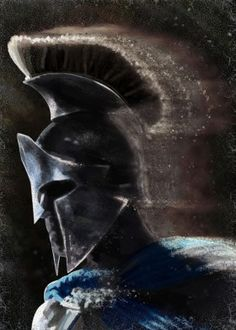 greek warrior spartan 300 athenian history helmet cracks blue dark brown man men him concept speed
