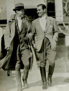 Robert Montgomery and Clark Gable, 1933