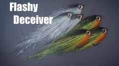 Tying the Flashy Deceiver - Pike, zander, perch, bass Fishing Pole Storage, Fishing Box, Bass Fishing Tips, Fishing Reels, Fishing Lures, Ice Fishing, Pike Flies, Fly Casting, Fly Tying Patterns