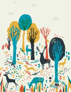 woodland print / Esther Cox