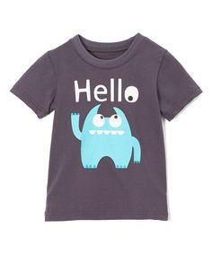 Gray Monster 'Hello Goodbye' Tee - Toddler