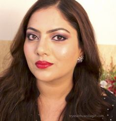 Lakme Absolute Illuminating Lip Shimmer Ruby Glimmer Review,FOTD