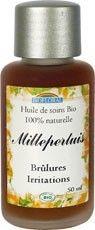 Anti-inflammatoire, analgésique et cicatrisante, l'huile de Millepertuis est idéale pour cicatriser les plaies et les brûlures légères, ainsi qu'en massage pour les douleurs du dos et les névralgies. Ainsi, Massage, Shampoo, Personal Care, Bottle, Organic Beauty, Oil, Personal Hygiene, Flask