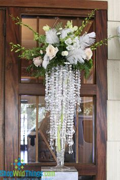 Reasonable crystal chandeliers that can be used as a vase too!