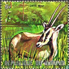 Postage Stamps - Burundi [BDI] - East African Oryx