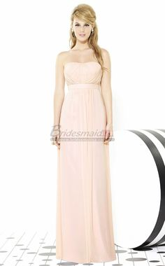 Pink Empire Waist Bridesmaid Dresses