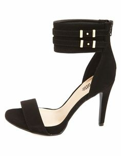 Single Strap Ankle Cuff Heels: Charlotte Russe